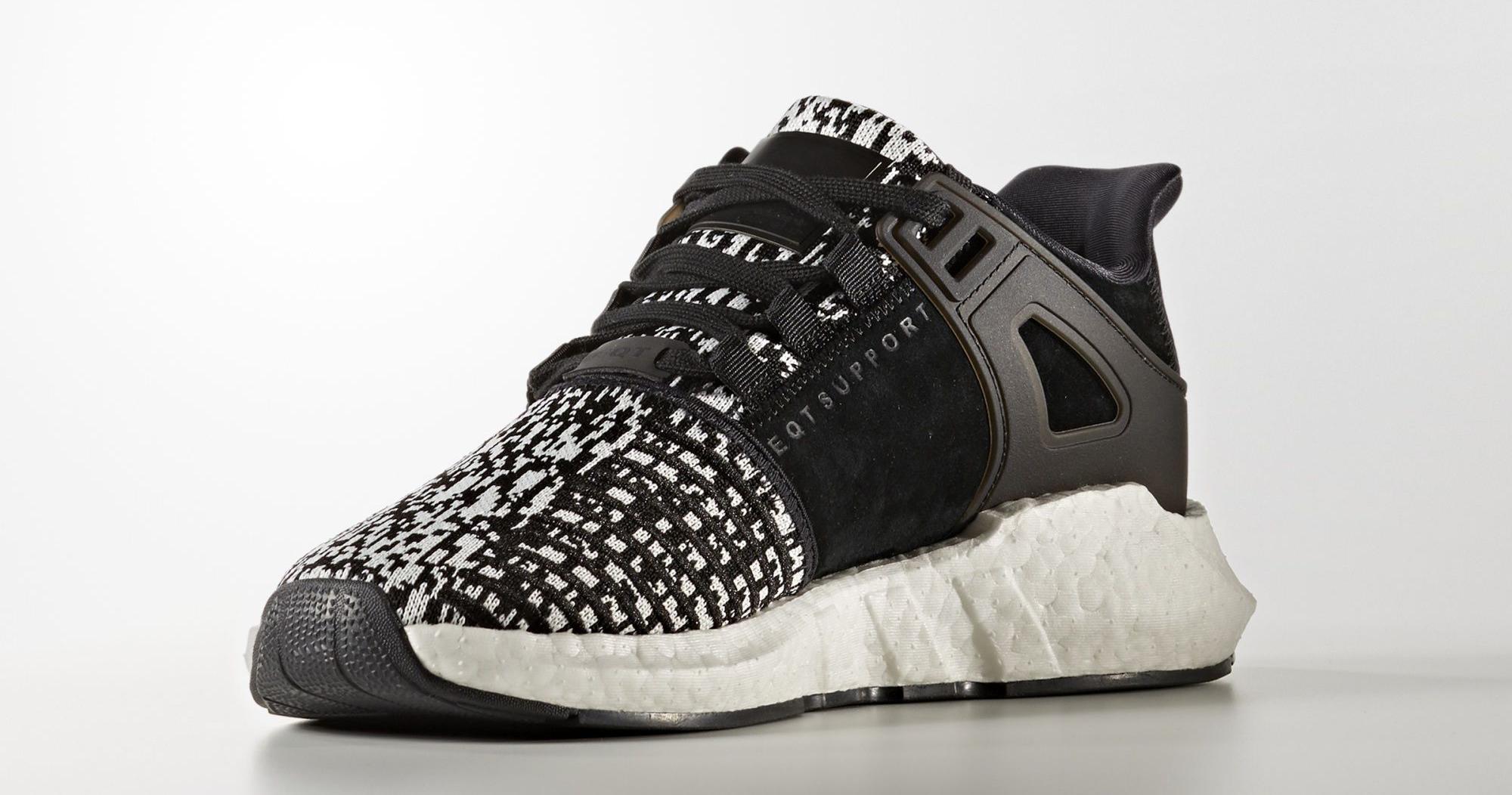 """meet 45e00 8a483 adidas EQT Support 9317 Glitch """"BlackWhite"""""""